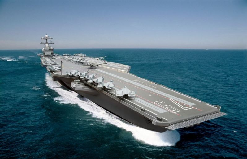 The new USS Gerald R. Ford Aircraft Carrier