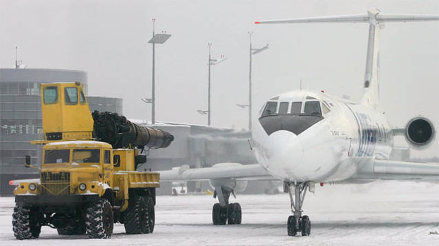Snow blower on airport